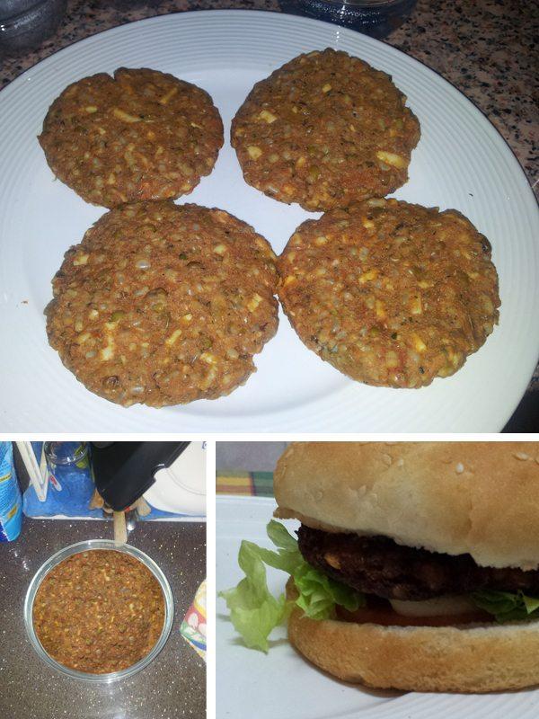 Cómo hacer hamburguesas de soja