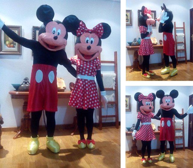 Un disfraz de Mickey y Minnie digno de cualquier concurso… y una mudanza a medias