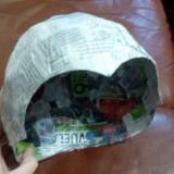 Como hacer un casco para un disfraz casero