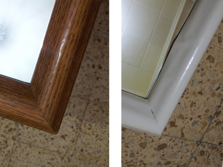 Forrando un espejo con vinilo adhesivo