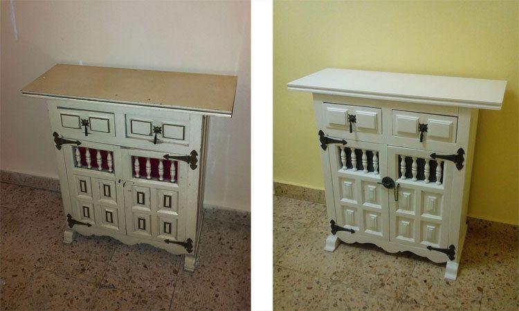 Renovar un viejo mueble d ndole un toque oriental for Como restaurar un mueble viejo