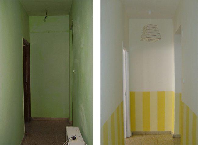 C mo pintar un pasillo oscuro para que sea m s luminoso treinta y diario de una treinta era - Como decorar un pasillo estrecho y oscuro ...