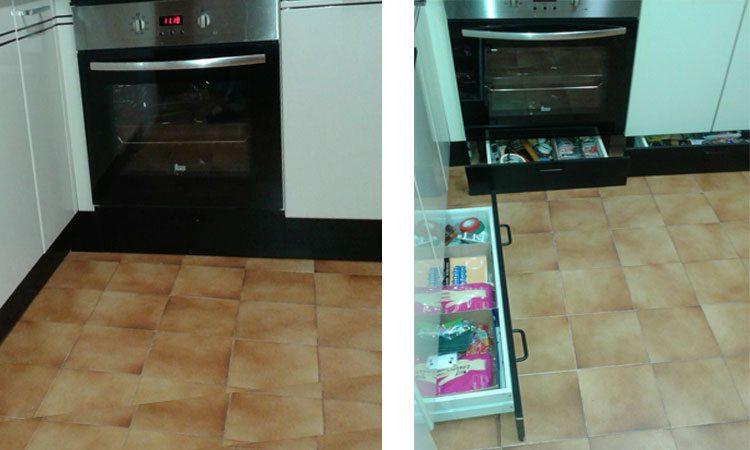 Ganar almacenaje extra en la cocina for Muebles de cocina ocasion