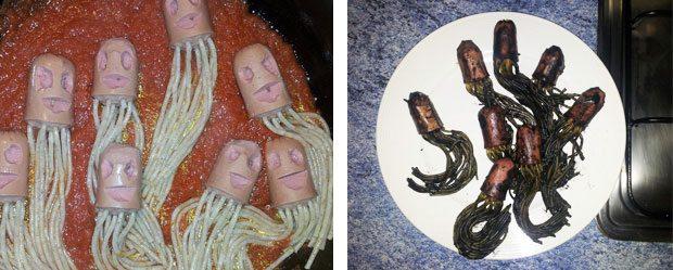 salchichas-con-spaguetti