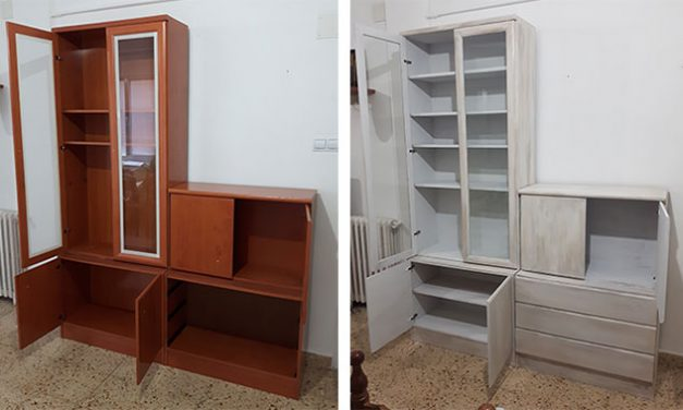 Pintar un mueble con aspecto envejecido – versión para vagos