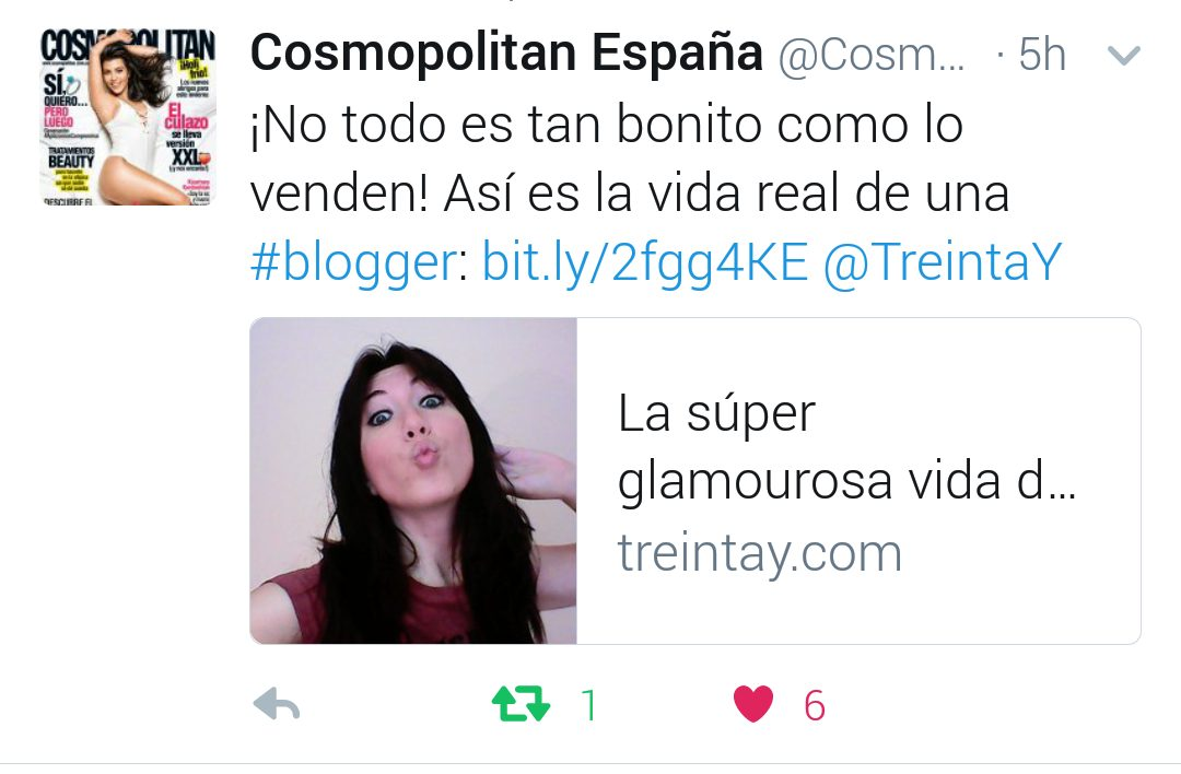 mencion tweet cosmopolitan blogger