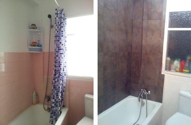 Cómo azulejar dos paredes con diferente altura - Treinta y ...