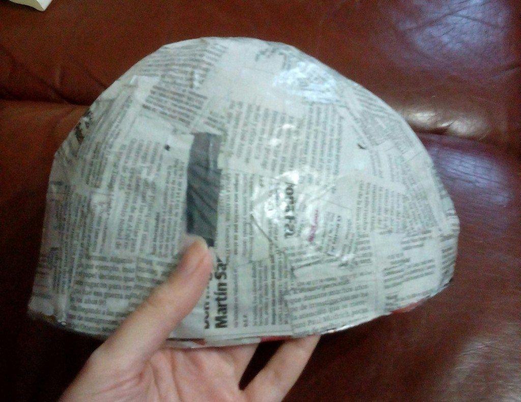 como hacer casco para disfraz