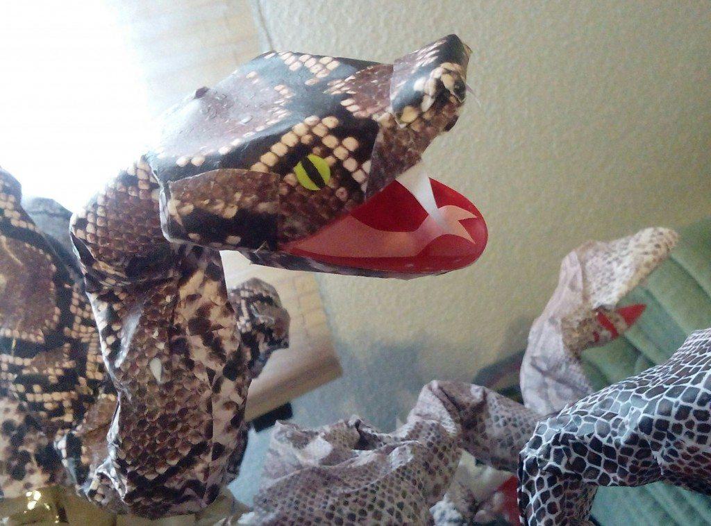 Como hacer una serpiente