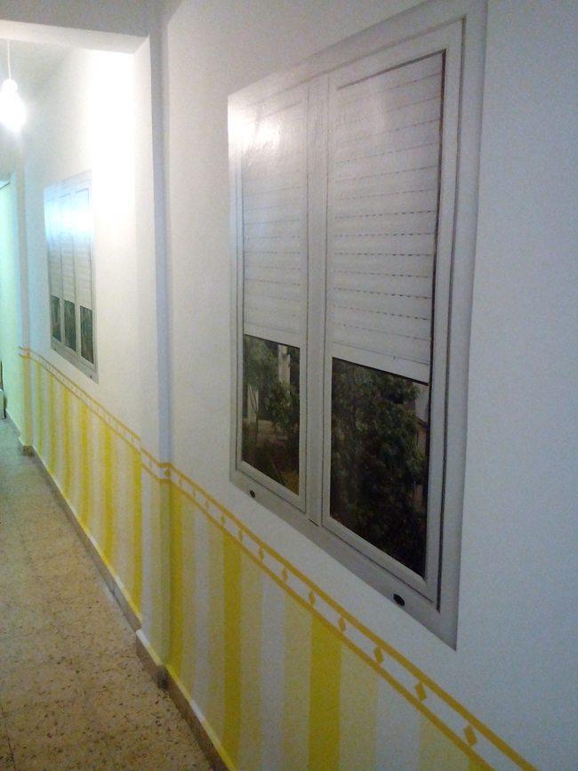 falsas ventanas de vinilo para decorar un pasillo largo On pegatinas de pasillo largo