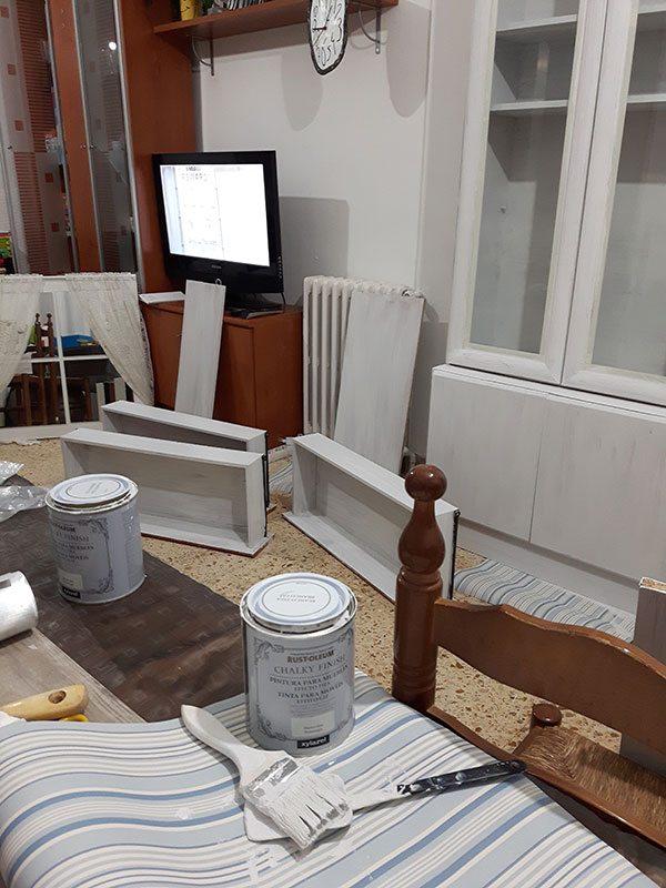 Como Pintar Un Mueble En Blanco.Pintar Un Mueble Con Aspecto Envejecido Version Para Vagos